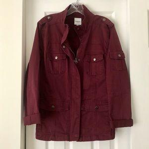 Kensie burgundy red utility jacket XL